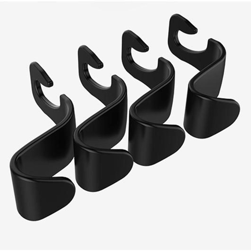 1pc Car Rear Seat Hook Back Hidden Hanger Multi-function Storage Ornaments Interior Accessories