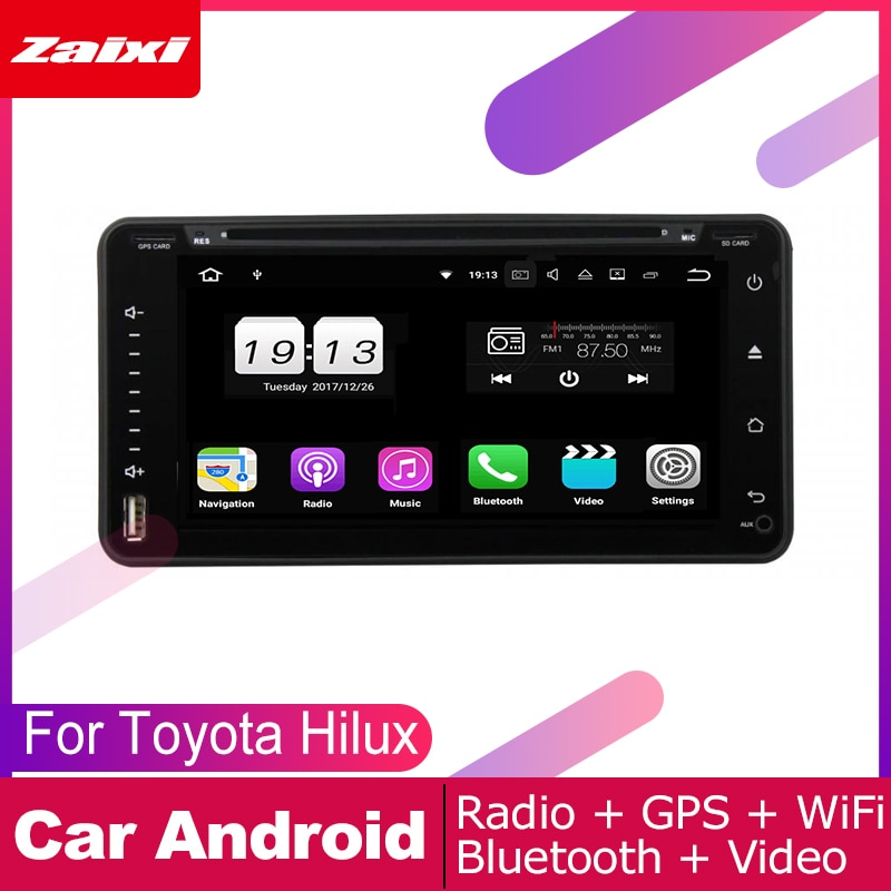 ZaiXi Für Toyota Hilux 2004 ~ 2015 Auto Android Multimedia System 2 DIN Auto DVD Player GPS Navi Navigation Radio audio WiFi