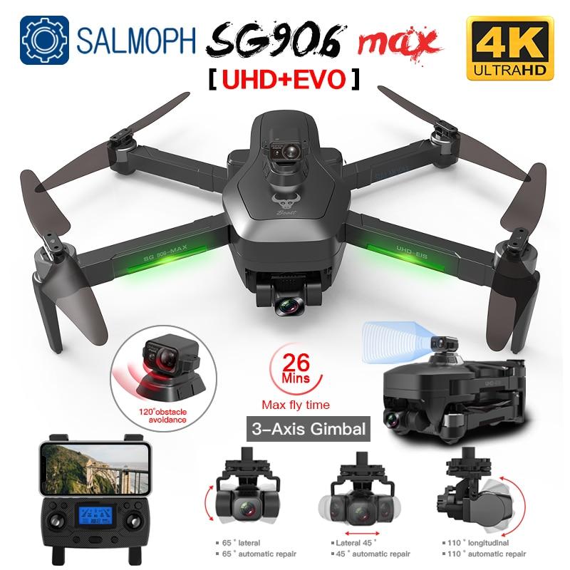 طائرة بدون طيار, طائرة بدون طيار موديل SG906 Pro 2 / SG906 MAX GPS بدون طيار مع واي فاي 4K HD كاميرا 3 محاور Gimbal احترافية بدون فرش كوادكوبتر لتجنب العقبات