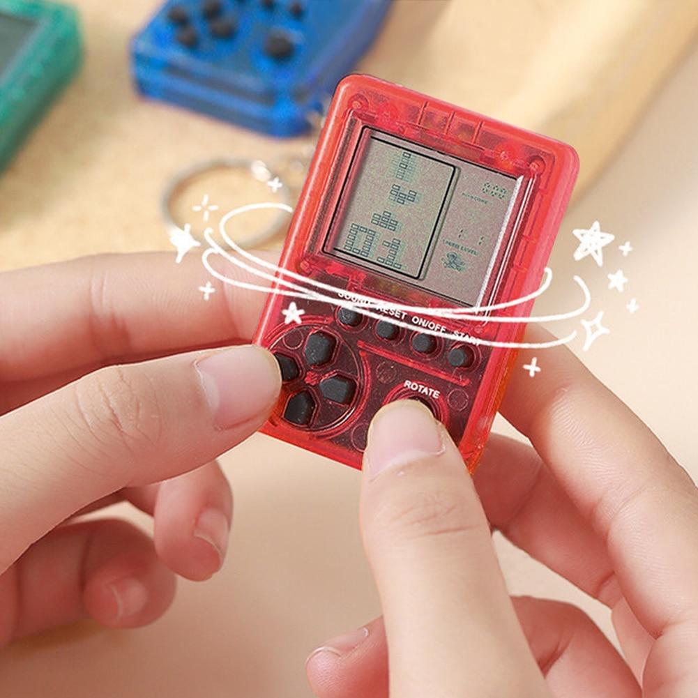 Portable Mini Classic Games Tetris Child Pocket Game Consoles Electronic Pets Games Machine Tetris B
