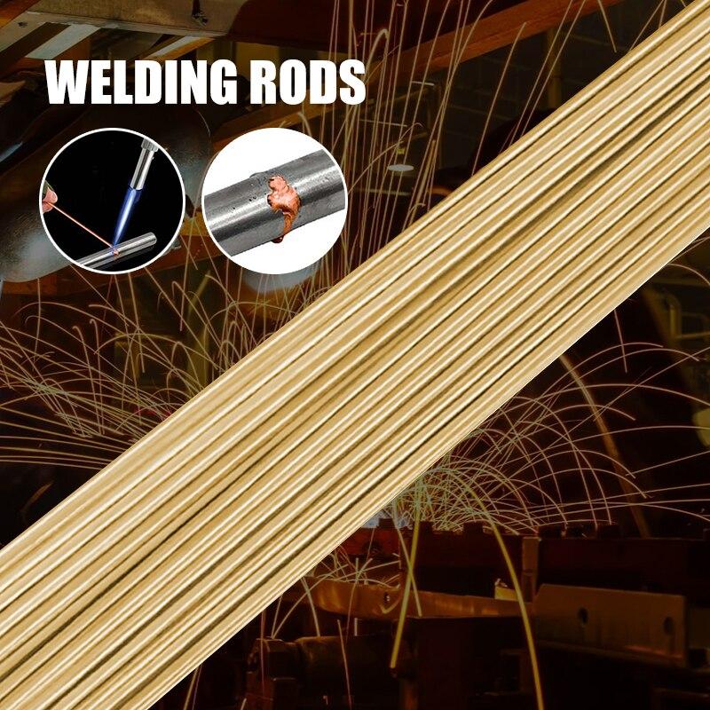 Varillas de soldadura de brazo de latón, fáciles de usar, buena soldabilidad, resistentes al desgaste, excelente fluidez para Soldador de materiales de aleación, 10 Uds.