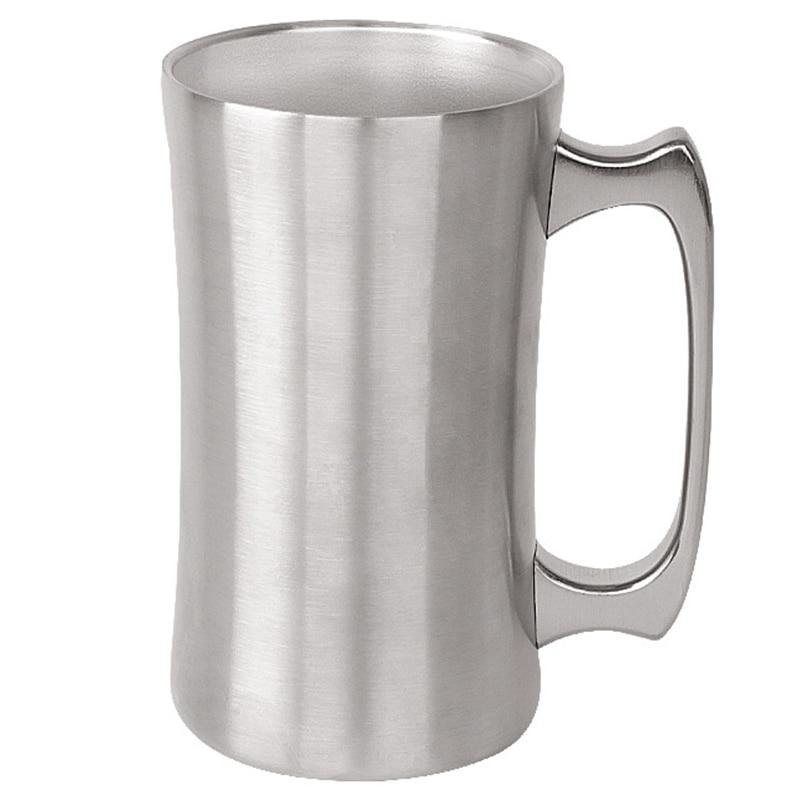 Jarro de cerveza para acampar al aire libre, taza de café de doble capa de acero inoxidable, taza de café al vacío con aislamiento para el hogar, vaso de agua de viaje