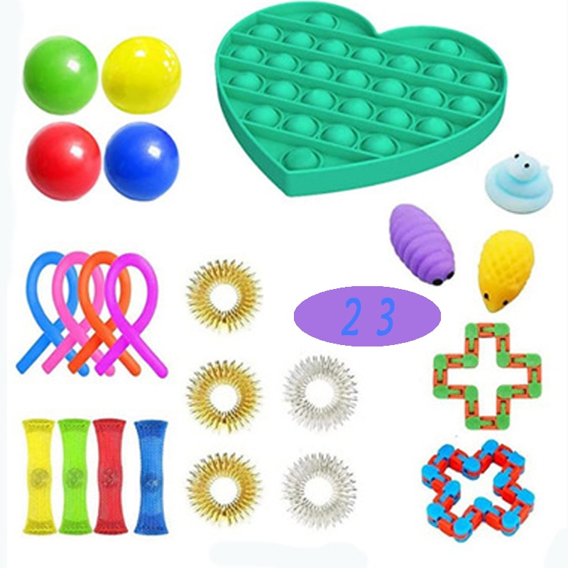 Cstem Stress Anxiety Relief Set Fidget Sensory Toy Set pop it Bubble Decompression Children Adult Toy Rubber Birthday Gift enlarge