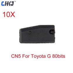 CHKJ 10 pçs/lote Cópia Chip de Chave Do Carro para Toyota G 80 CN5 Bits Auto Transponder Chip para CN900 ND900 Substituir cópia CN2 4D TPX2