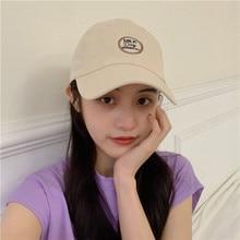 Japanese Style Fresh Hat Female Summer Letter Embroidery Baseball Cap Male Travel Sun-Proof Sun-Poof