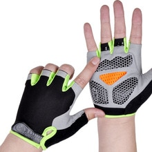 Silicone Anti-slip Anti-sweat Cycling Gloves Men Women Half Finger Gloves Breathable Anti-shock Spor