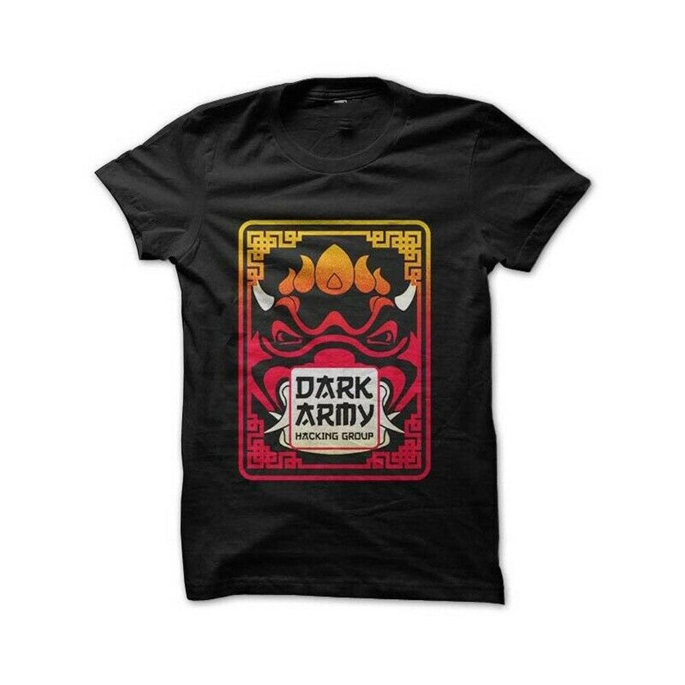 Camisa engraçada unissex nova do t do tamanho S-2Xl da camiseta dos homens do robô do exército escuro