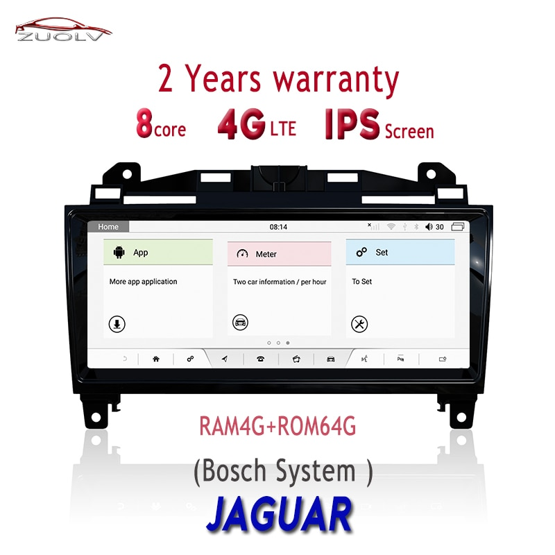 """De navegación Multimedia GPS para Jaguar XJ/XJL/F-TYPE Bluetooth 4 + 64G Android 9,0 sistema BOSE Radio tablero reproductor de DVD 10,25"""""""