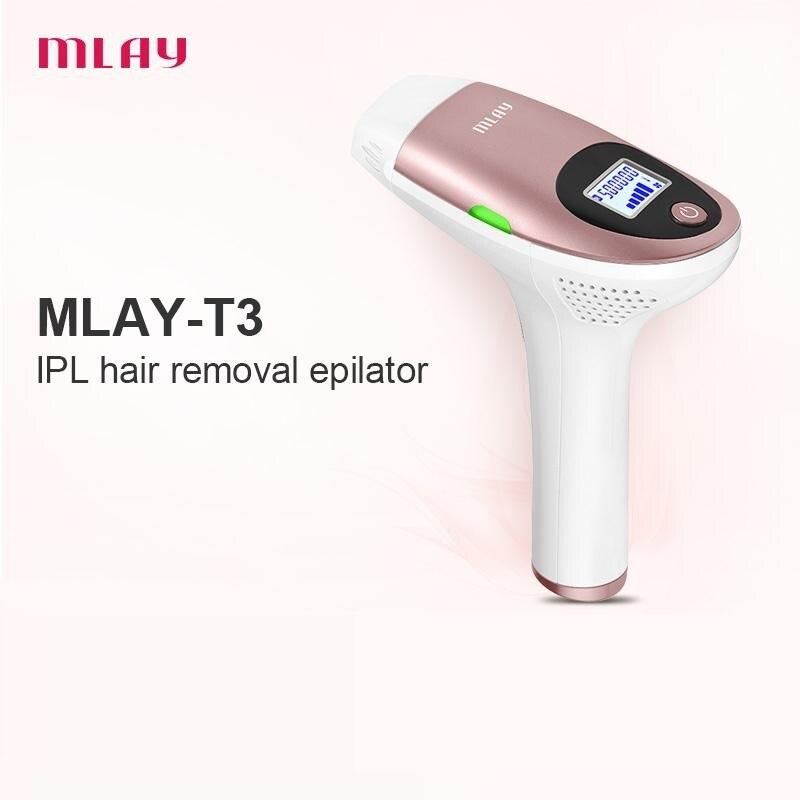 MLAY IPL Laser Depilator 500000 flash LCD laser hair removal Photoepilator women painless hair remover machine enlarge