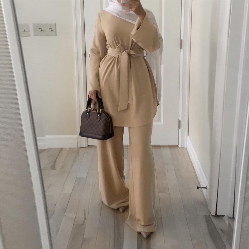 Eid Mubarak Kaftan Dubai Abaya Turquía Moda musulmana vestido Hijab conjuntos ropa...