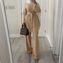 Ramadan Eid moubarak dubaï Abaya turquie musulman ensembles Hijab Robe Caftan Caftan Islam Robe turc islamique vêtements pour les femmes Ropa Mujer
