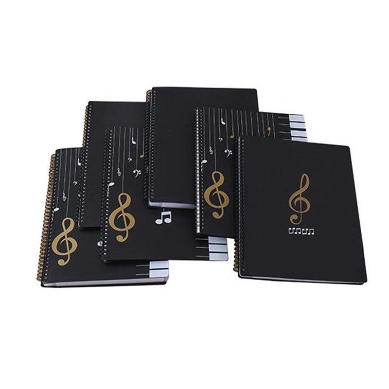 40-100 páginas A4 Piano hojas de papel documento organizador de archivos carpeta Piano Score almacenamiento organizador Accesorios