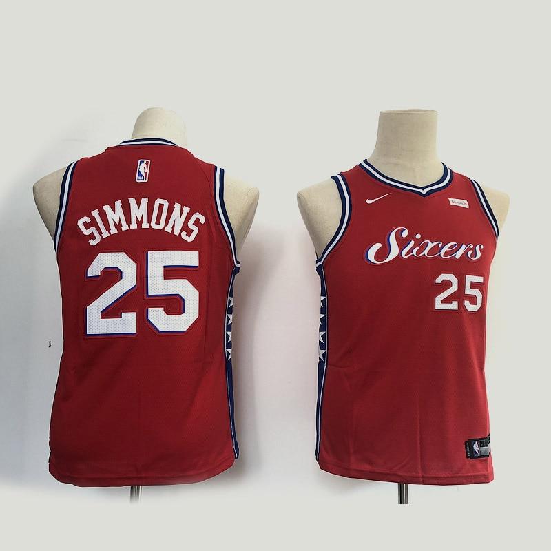 NBA-camisetas de baloncesto de la NBA camisetas de baloncesto 76ers 21 Embiid...