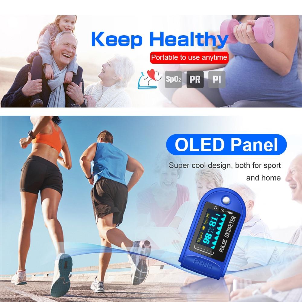 OLED Blood Oxygen Heart Rate Health Diagnostic Monitor Tool Medical Household Digital Fingertip Pulse Oximeter Medical detector