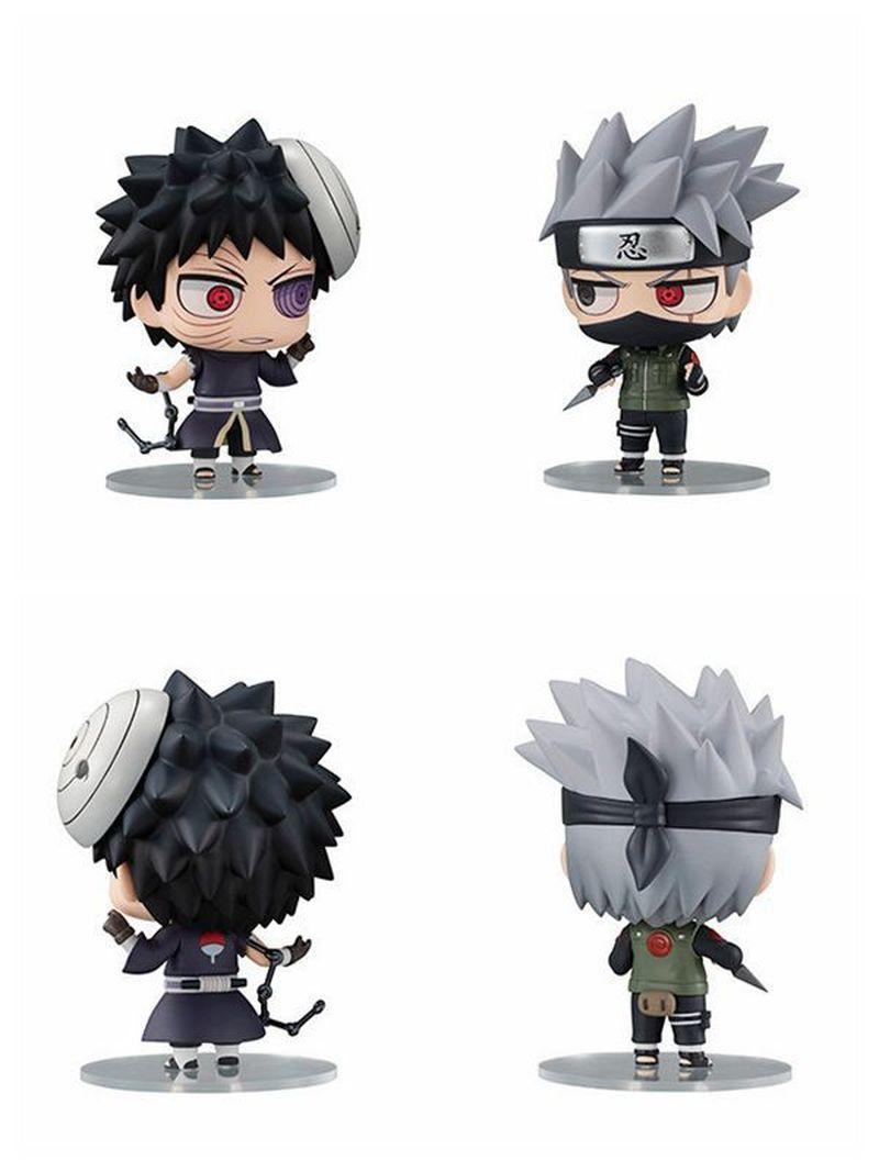 2020 nuevo 2 uds Anime Naruto Hatake Kakashi Uchiha Obito colección de figuras de acción modelo niños muñeca Juguetes Coche Decoración