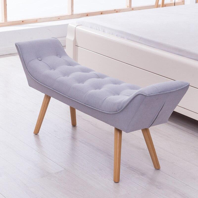 مقعد سرير من الخشب الصلب ، مقعد ممتاز ، مقعد متجر على الطراز الأوروبي ، أصفر/رمادي عثماني