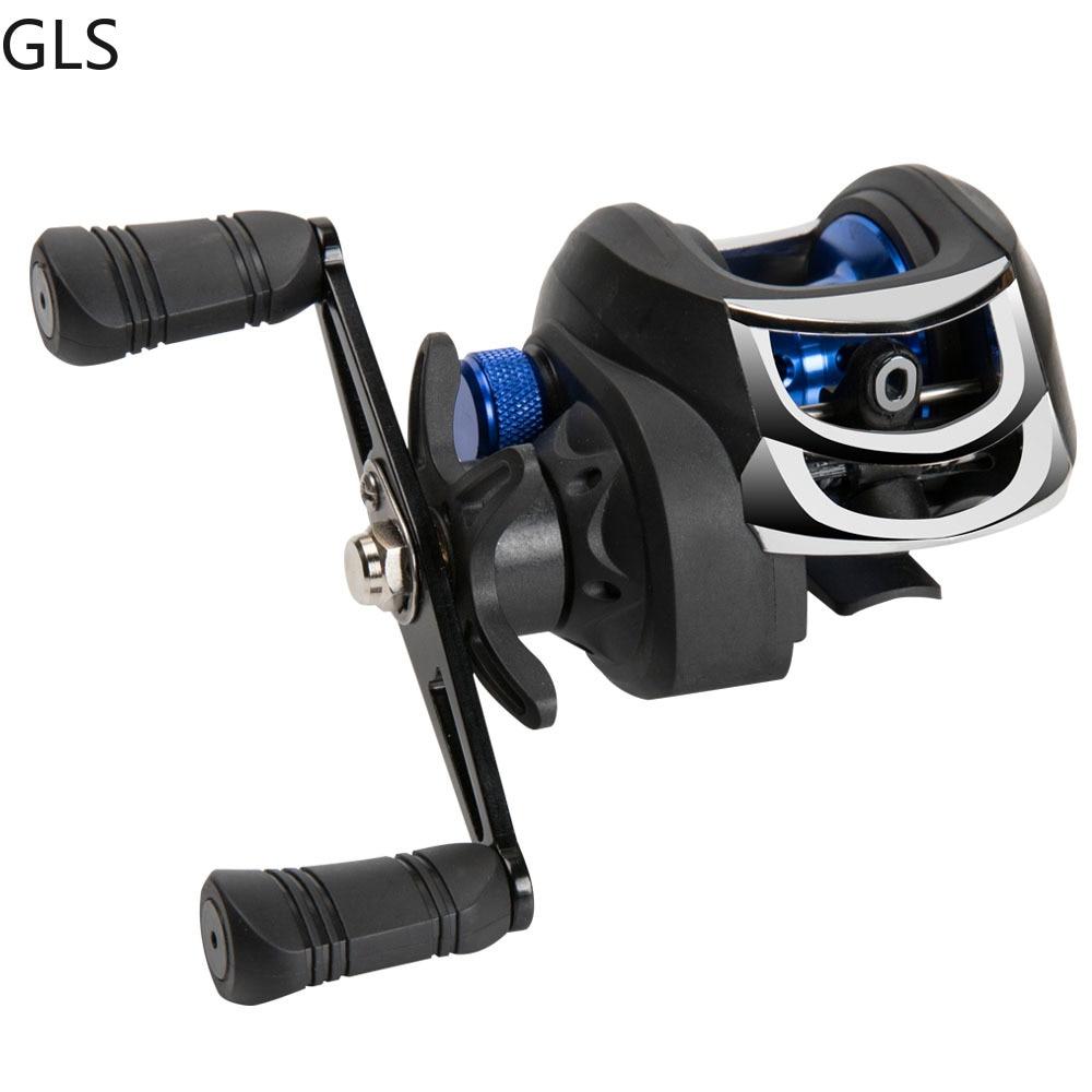 GLS Metal winding ring Series Baitcasting Reel 7.2:1 Ultra-Light 8KG MAX Drag Power Casting Fishing Right Left Hand Fishing Reel