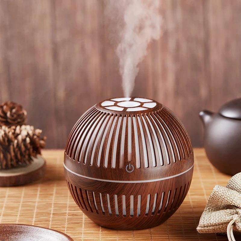 Mini USB Aroma Essential Oil Diffuser Ultrasonic Air Humidifier Mist Maker Aroma Diffuser 130ML 7 Color LED Light Home Office
