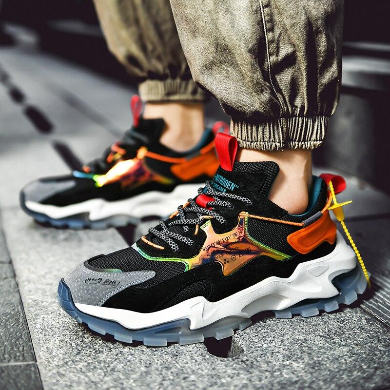 Zapatos informales transpirables para hombre, zapatillas deportivas de correr de malla para hombre, zapatillas clásicas para hombre, zapatos planos de gran oferta para hombre