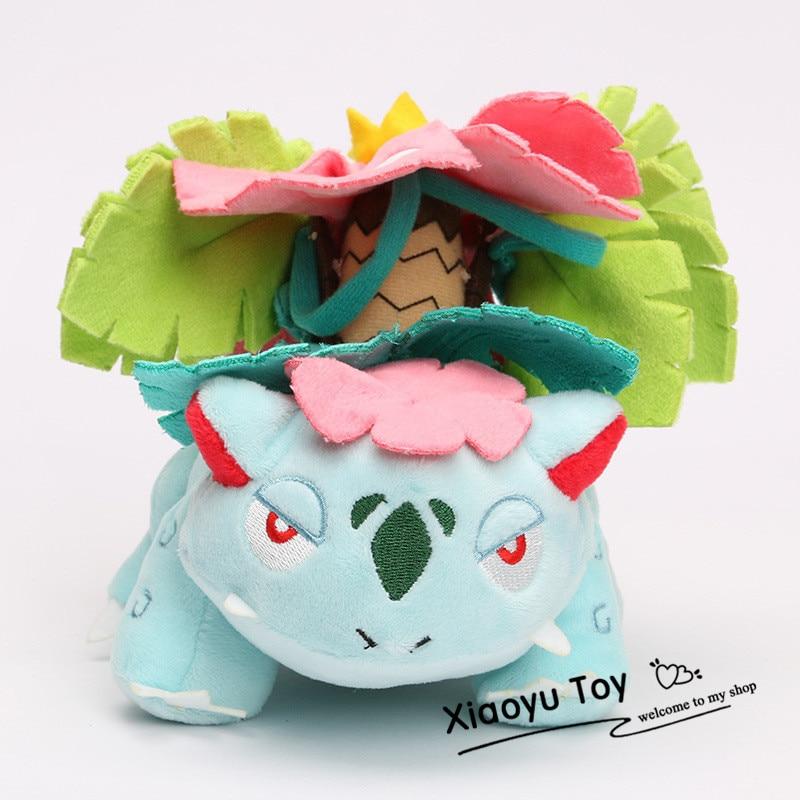 Hot Sale 15CM Anime Plush Toy Wonderful Frog Mega Venusaur Plush Toys Stuffed Soft Dolls Good Birthday Gift For Kids