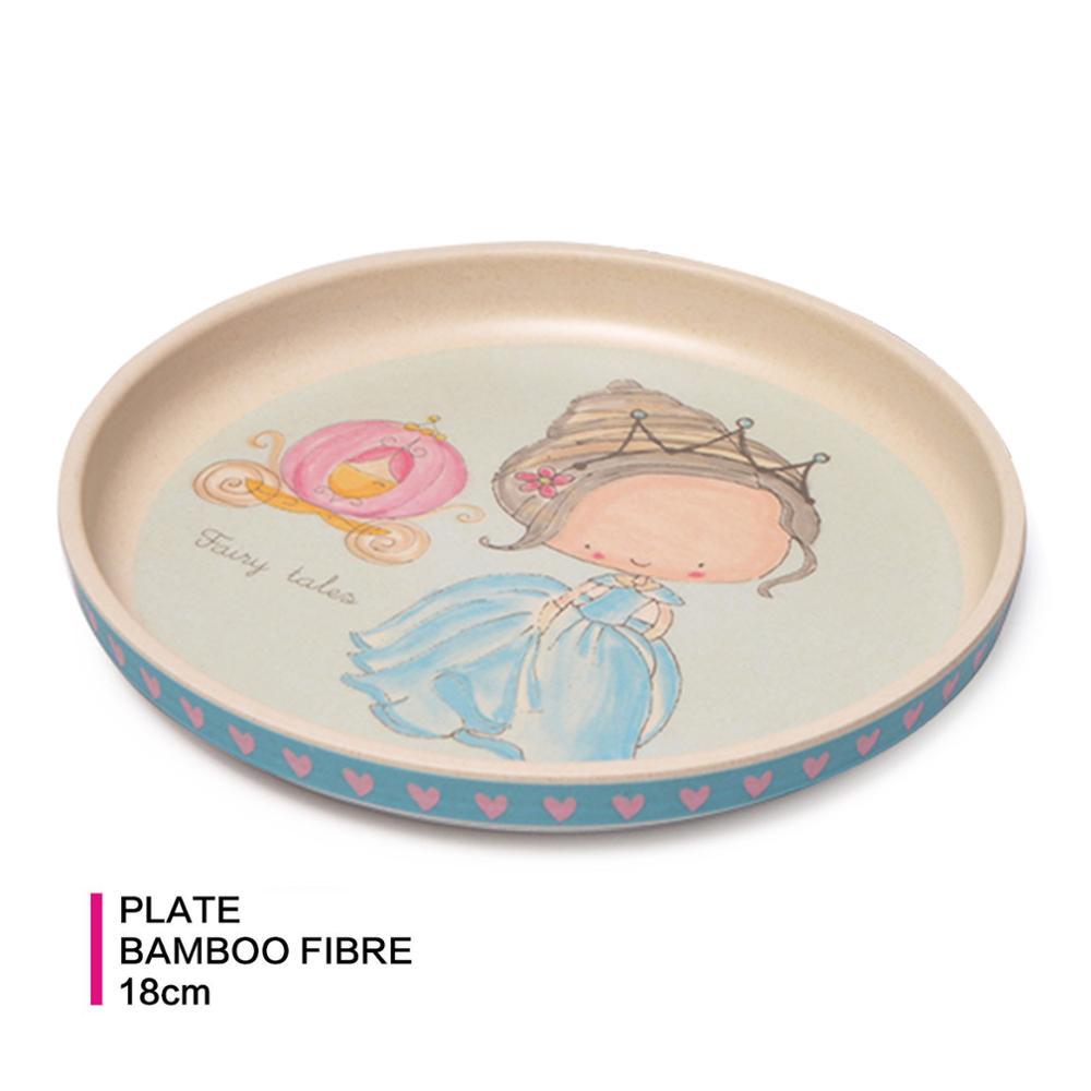 Fissman, placa de fibra de bambú de dibujos animados, plato de cena, bandeja de comida