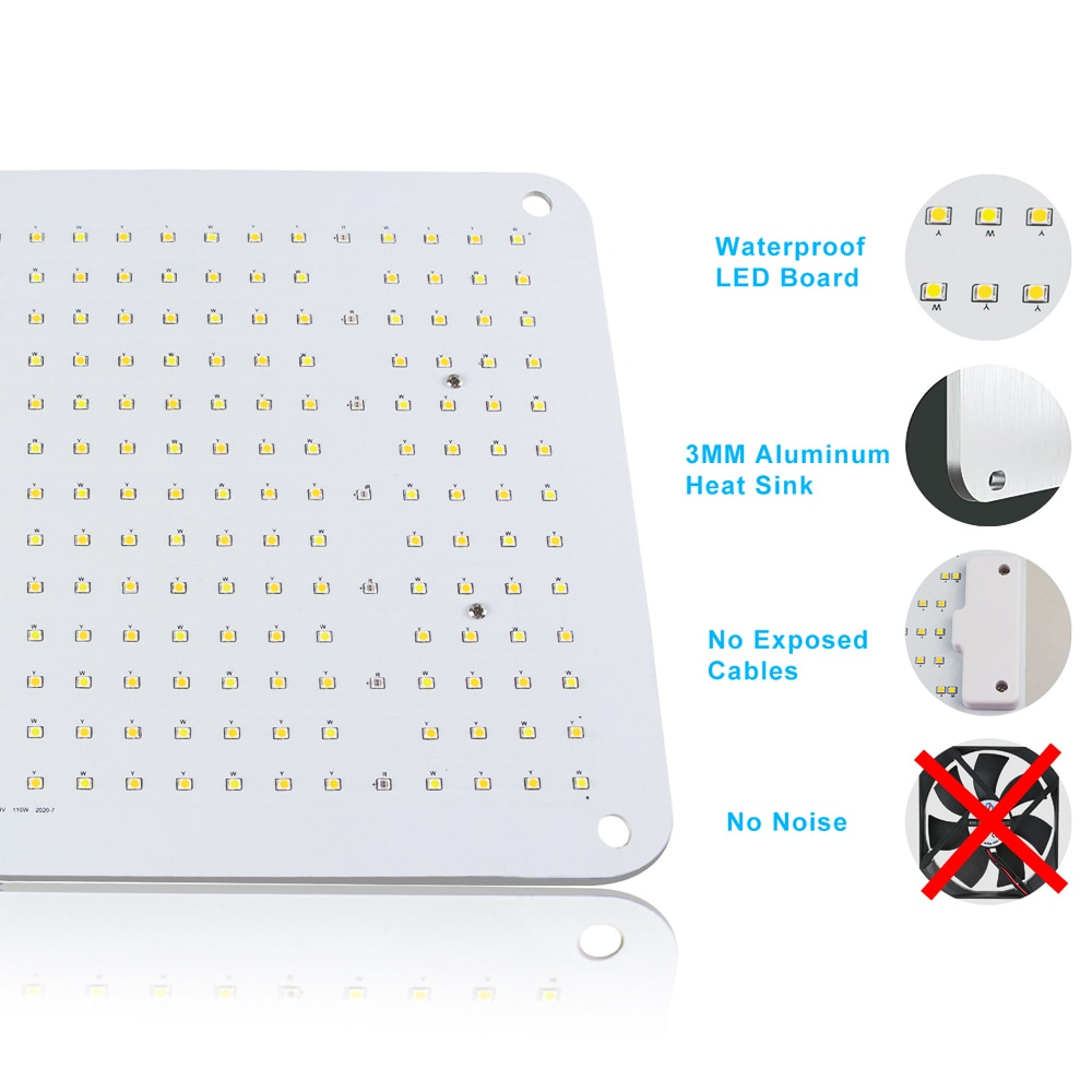 Quantum Foldable Board Lm301B Led Full Spectrum Grow Light For Greenhouse Plants Fast Growth,Meanwell Drive,With Glasses enlarge
