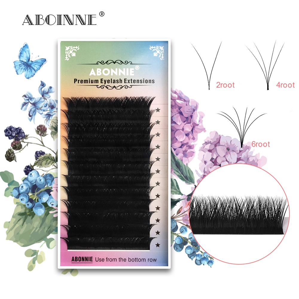 Abonnie V/W Premium Mink Individual Eyelash Trays Custom 8-12mm Lash Extentions Tray Synthetic Matte