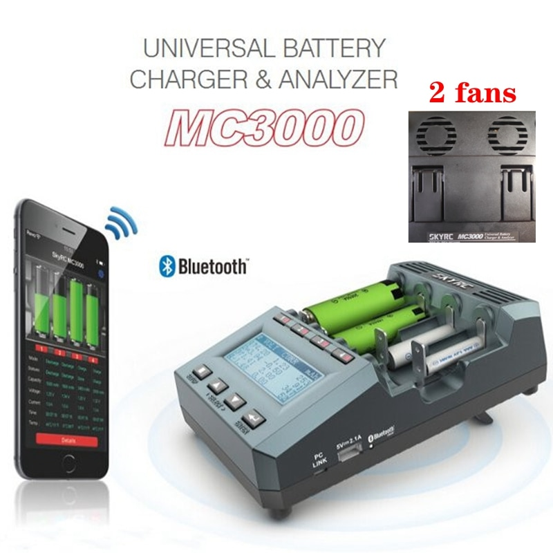 SKYRC MC3000 Battery Charger bluetooth Smart APP PC Control Multi-chemistry Universal LED Screen NiMH NiCd Lithium-ion LiFePO4