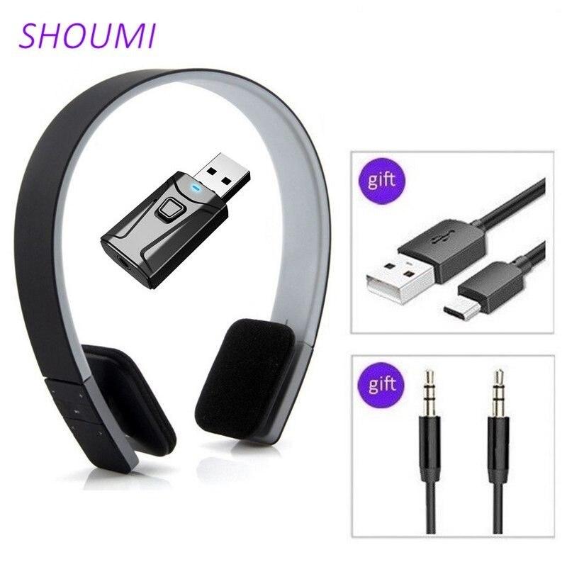 Shou Mi Sport Headset Noise Reduction Earbuds Wireless Headphon with Bluetooth USB TV Adaptor Deep Bass Sound for Smart TV Phone
