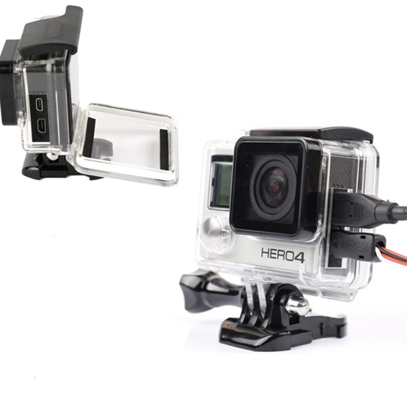 Funda Carcasa protectora con apertura lateral para Gopro hero 4 3 +, accesorios para cámara, funda protectora con apertura lateral para Go Pro