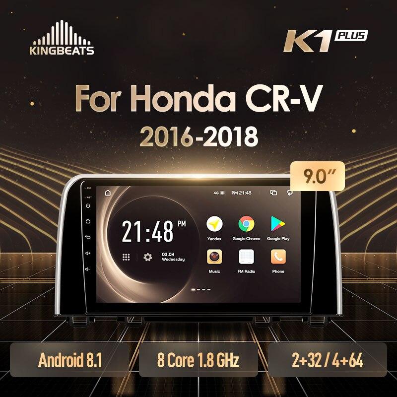 KingBeats Android 8,1, unidad principal 4G en el tablero, reproductor Multimedia de Radio para coche, navegación GPS para Honda CRV CR-V 5 RT RW 2016 2018