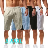 summer new style mens casual sports cotton and linen comfortable fashion shorts jogging pants