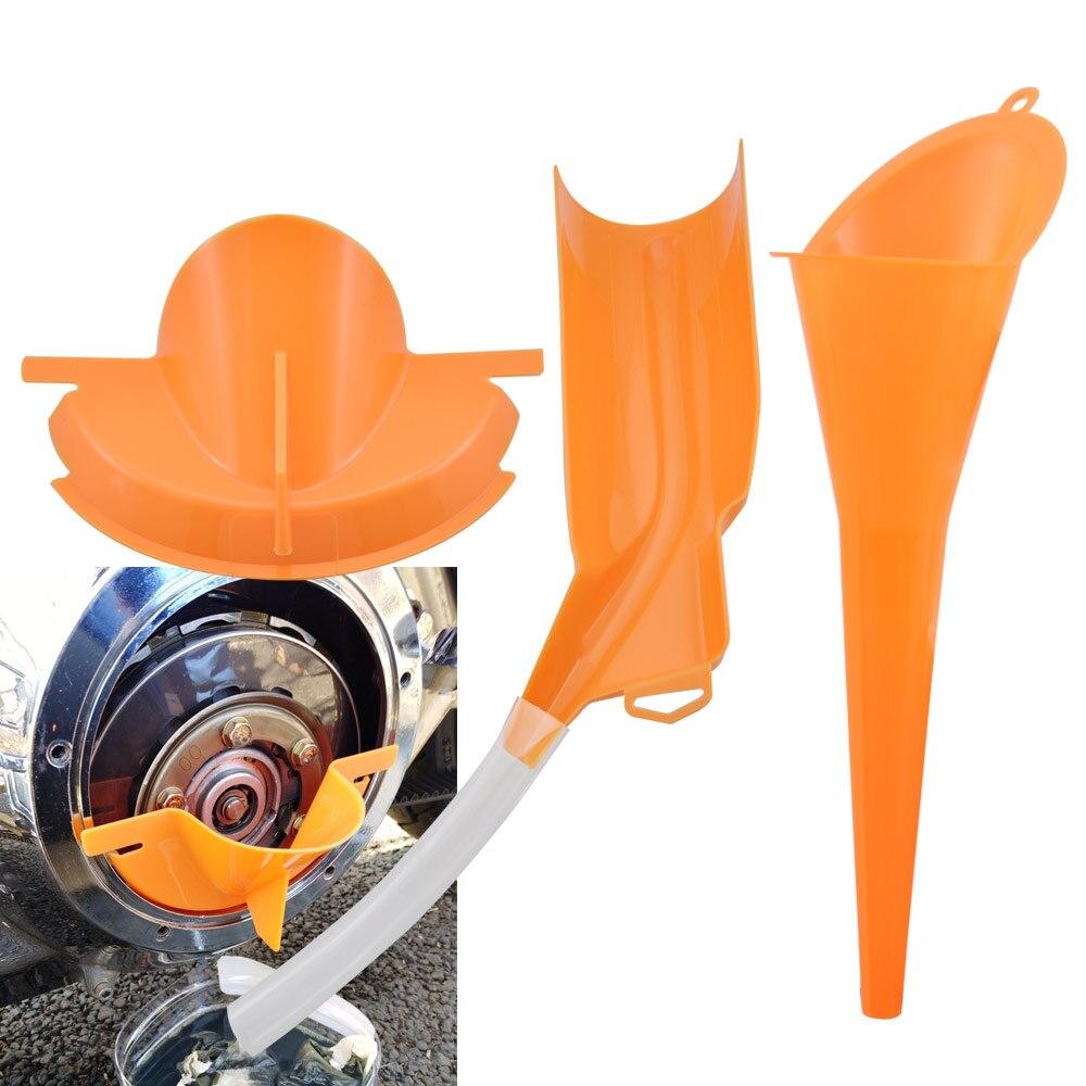 Kit de embudo de llenado de aceite primario para coche, motocicleta, máquina agrícola, rellenador antifugas Universal para Harley Dyna Softail Honda Cafe Racer KTM