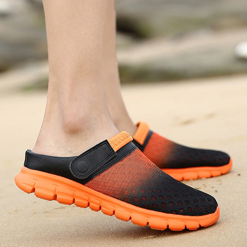 Summer Men's and Women's Clogs Quick Dry Casual Home Slippers Couple Garden Shoes Beach Sandals Mule