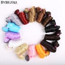 Bybrana cheveux longs bouclés 30cm * 100cm et 15cm * 100cm bjd perruque à faire soi-même pour poupées livraison gratuite