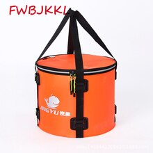 40L Large Capacity Folding Waterproof Fishing Bucket Fishing Bag Fish Protection Barrel Portable Round Eva Fish Bag