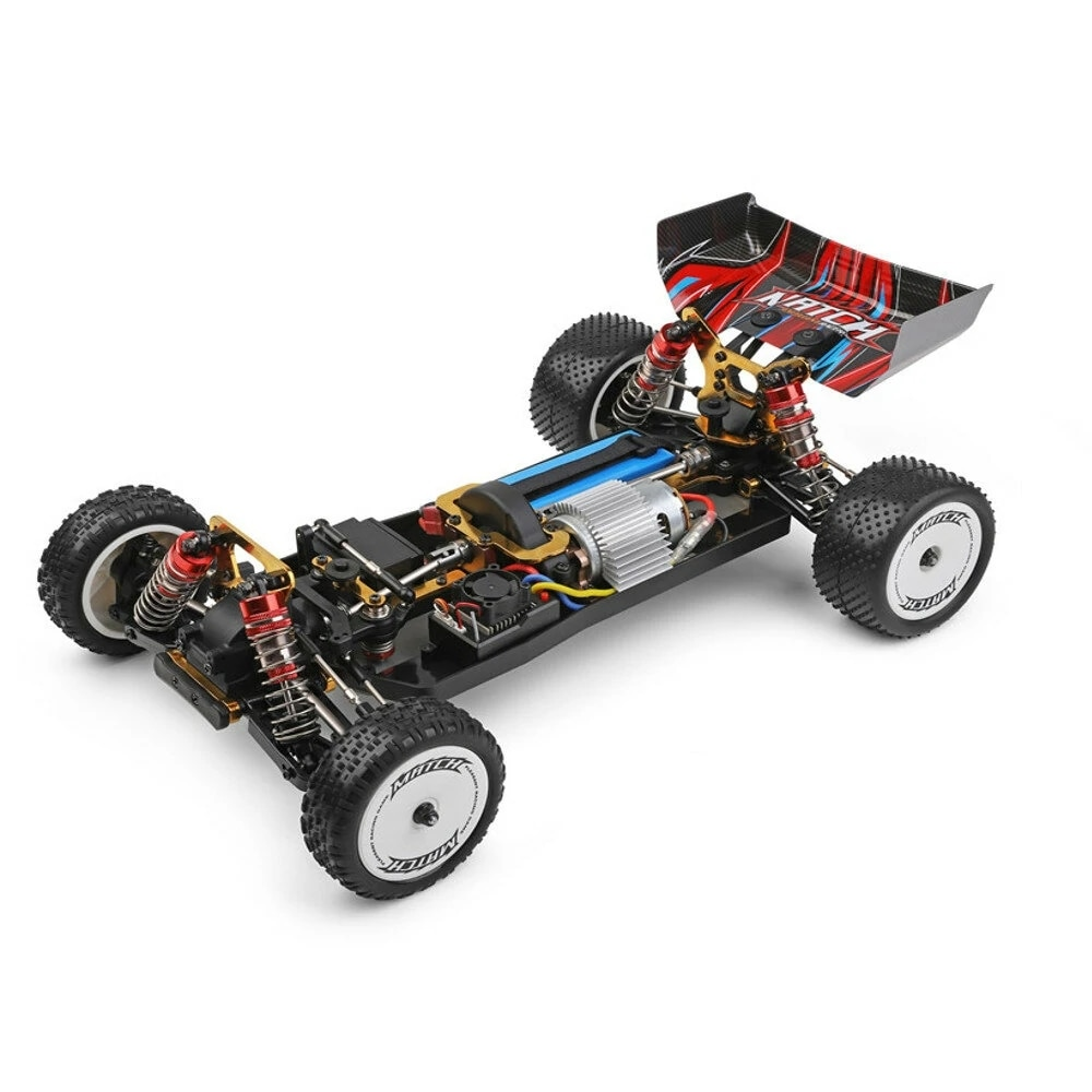 Professional 2.4G 1:10 Racing Car Radio Competition 60KM/H High-speed Racing Alloy Body Chassis Remote Control Toy RC Car enlarge