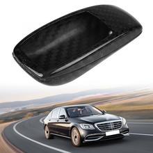 Auto Afstandsbediening Sleutel Shell Case Cover Trim Voor Mercedes Benz E Klasse W213 2016 2017 2018 Real Carbon Fiber Auto accessoires