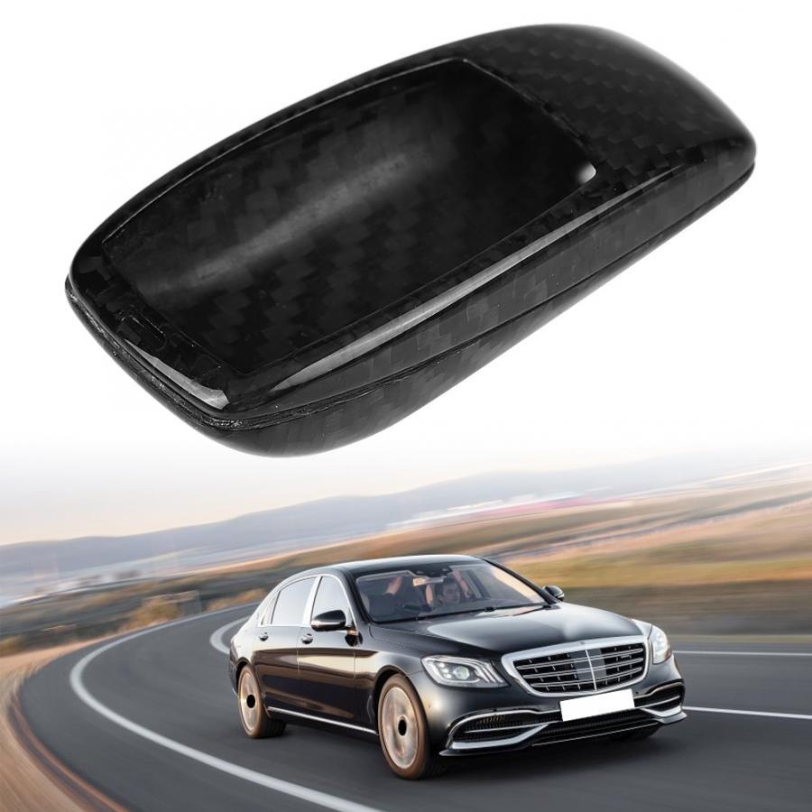 Garniture de couverture de coque de clé à distance de voiture pour Mercedes Benz classe E W213 2016 2017 2018 accessoires de voiture en Fiber de carbone véritable