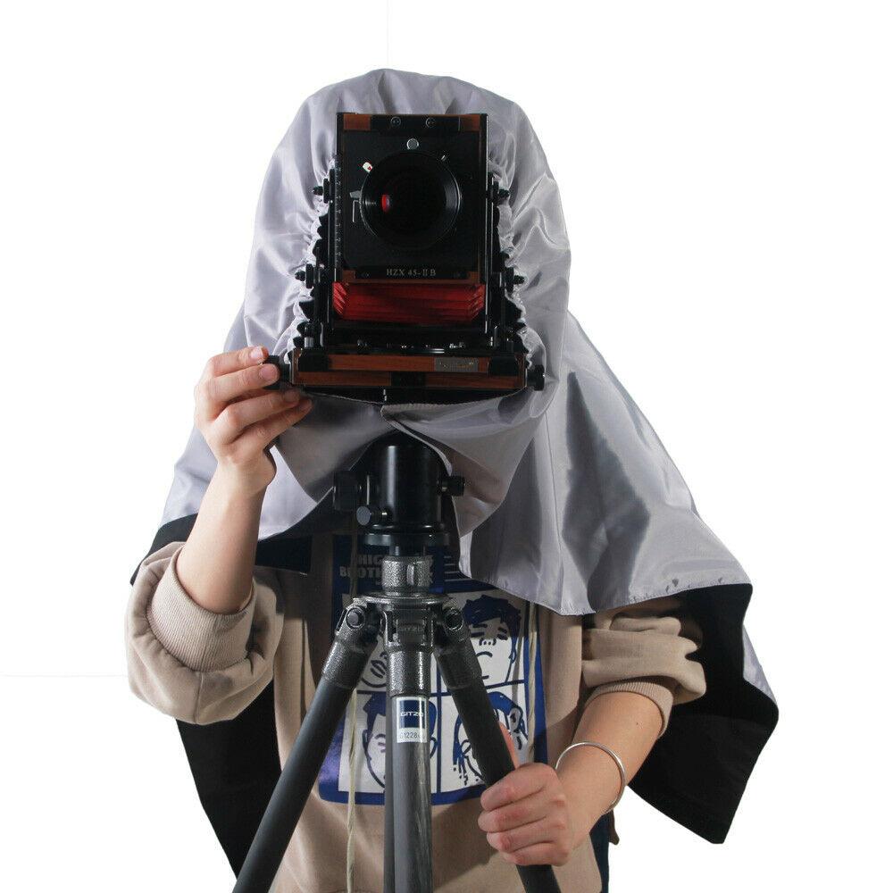 ETone المهنية الظل القماش الداكن التركيز هود ل 4x5 شكل كبير كاميرا التفاف القماش المظلم داخل أسود