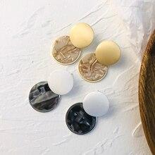 AENSOA mode coréenne ronde acrylique boucles doreilles pour les femmes Simple personnalité épissage déclaration boucles doreilles bijoux cadeau
