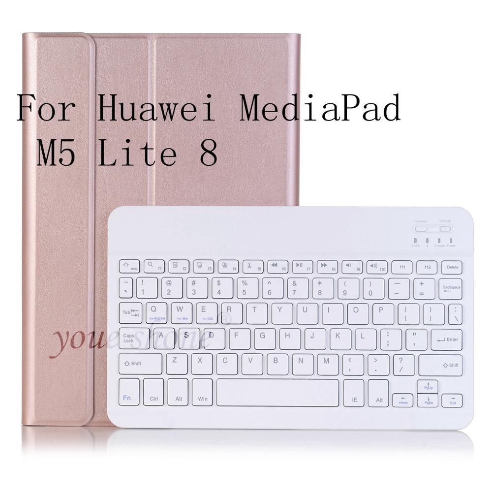 Bluetooth Tastatur Fall für Huawei Mediapad M5 Lite 8 JDN2-W09 JDN2-AL00 JDN2-L09 Fall Tastatur für Huawei M5 8,0 Abdeckung + geschenk.