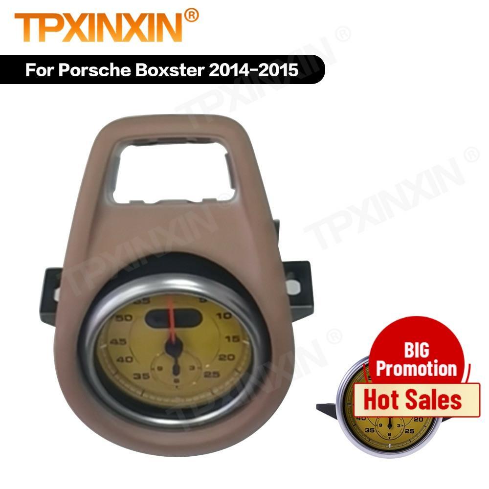 TPXINXIN لبورش بوكستر 2014 2015 الداخلية لوحة القيادة مركز البوصلة الوقت مقياس إلكتروني على مدار الساعة