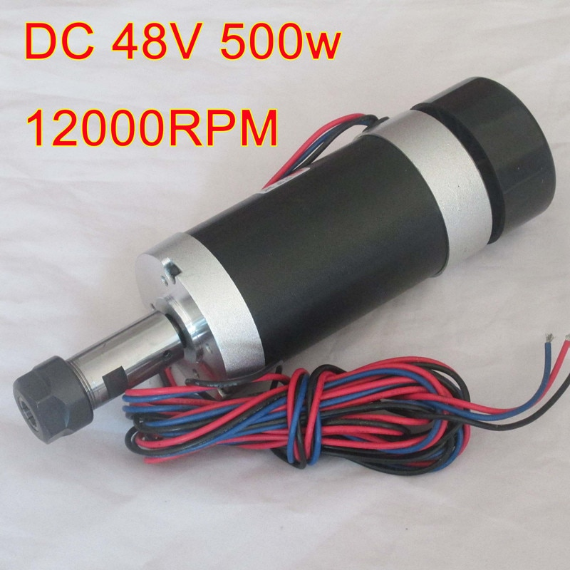 ER16 48V 500W High Speed Air-Cooled Brushless Spindle Motor Engraving Machine  PCB