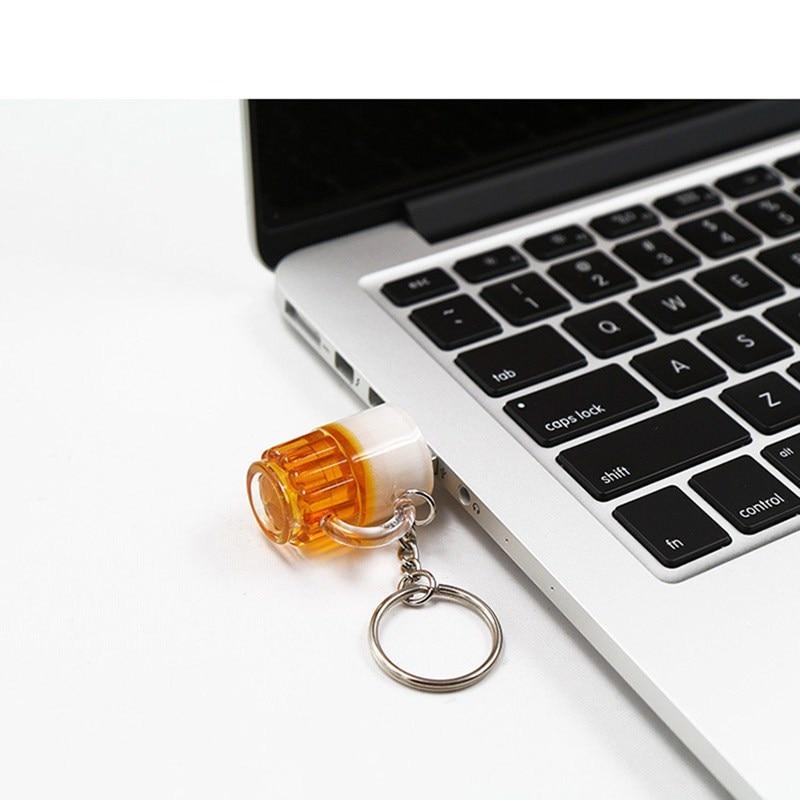 Usb Flash Drive Popular Beer Mug Usb Flash Stick 128GB Flash Memory Card 2.0 Pendrive Real Capacity 256G 512GB Pen Drive U Disk enlarge