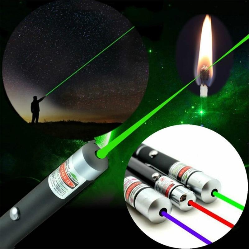 Зеленый% 2FRed% 2FBlue Laser Pen Beam Light High Power Laser 5mW Presenter Light Hunting Sight Device For Outdoor Survival Multi Tools