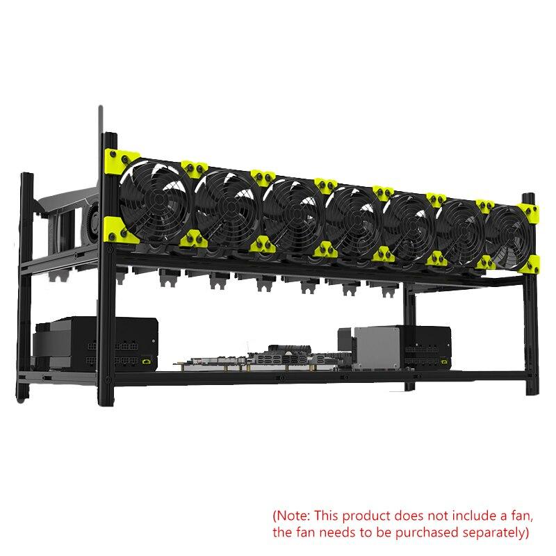 8 وحدة معالجة الرسومات 8 بطاقة الرسومات رف سبائك الألومنيوم رف متعدد الرسومات رف عمق الهيكل بطاقة جرافيكس هيكل الخادم الأسود