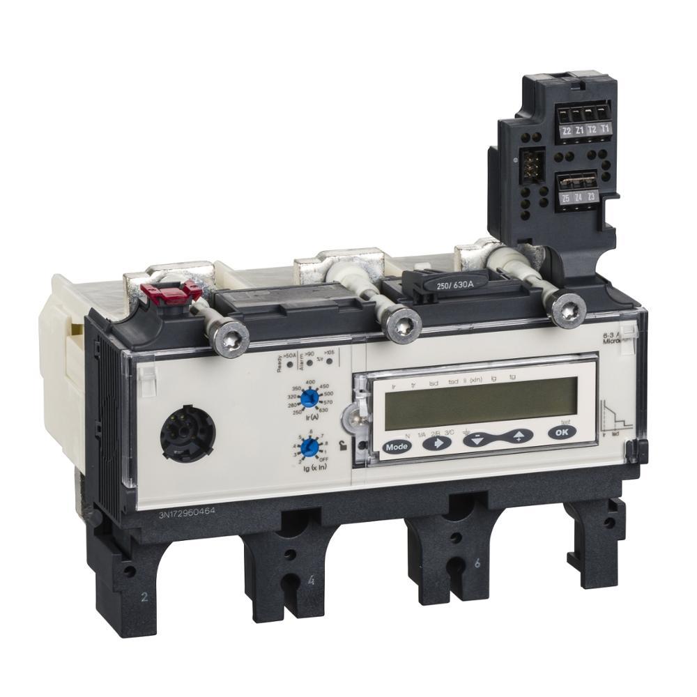 قطاع دارة Micrologic 6.3 لـ NS NSX400/ 630 LV432105 وحدة الرحلة-Micrologic 6.3 A - 630 A - 4 أقطاب 4d