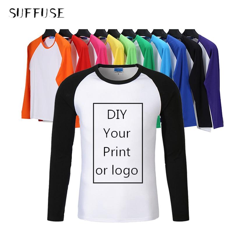 AliExpress - Raglan Long Sleeve T-Shirts Men/woman/kid Custom T-shirt Own Design Logo Printing Shirts Casual  Autumn Parent-child clothes