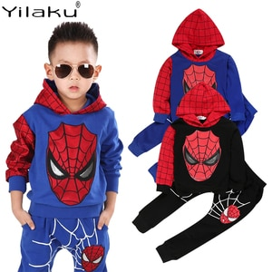 Yilaku Kids Clothes Set Spring Autumn Boys Clothes 2 Pcs Hoodie + Long Pants Children's Casual Outfits For Boy YY008